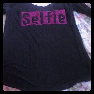 Selfie 3/4 sleeve T-shirt
